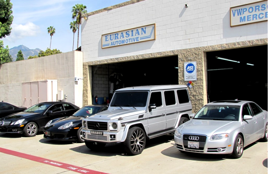 Mercedes benz repair by eurasian automotive in pasadena for Mercedes benz repair shops