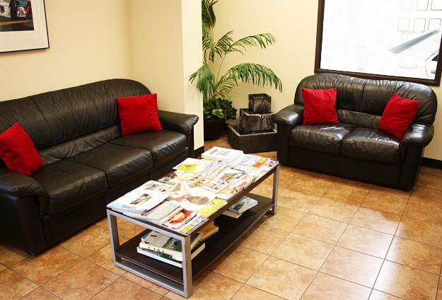 Our comfortable and clean waiting area offers TV and WiFi.